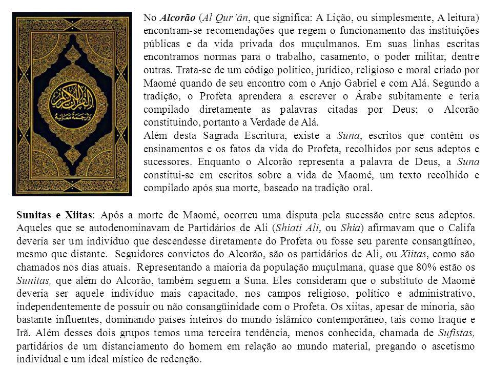No Alcorão (Al Qurân, que significa: A Lição, ou simplesmente, A leitura) encontram-se recomendações que regem o funcionamento das instituições públic