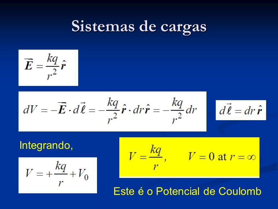 Sistemas de cargas Integrando, Este é o Potencial de Coulomb