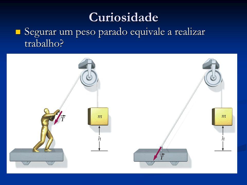 Curiosidade Segurar um peso parado equivale a realizar trabalho? Segurar um peso parado equivale a realizar trabalho?