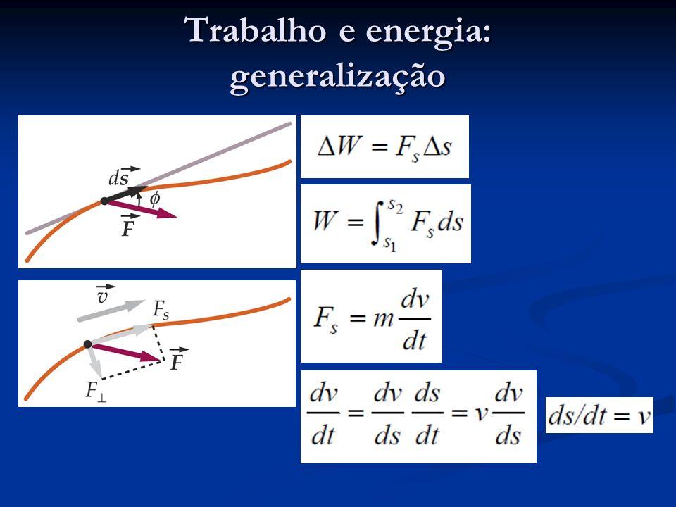 Trabalho e energia: generalização