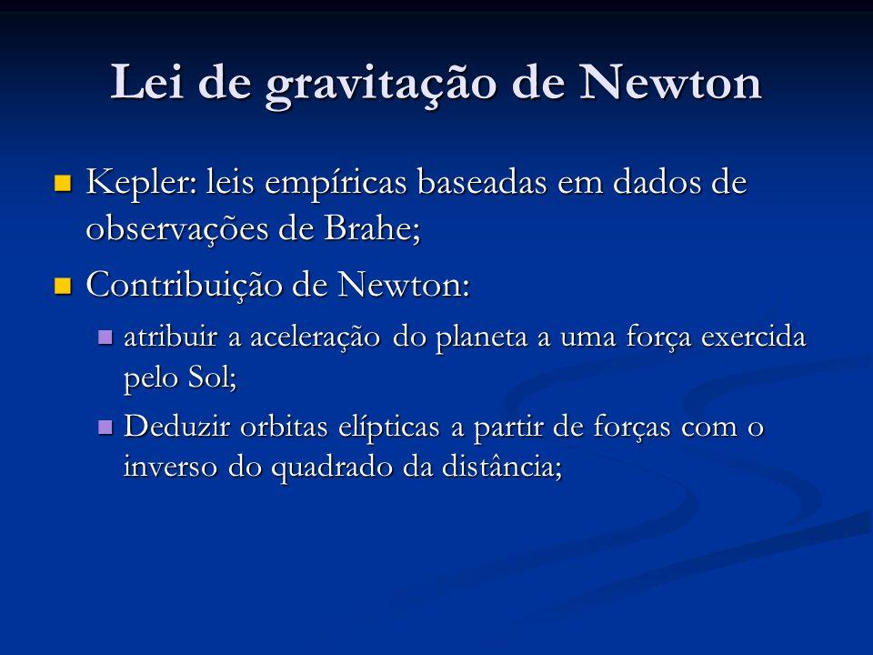 Postulação de Newton Matéria atrai matéria na razão direta das suas massas e na razão inversa do quadrado das suas distâncias.