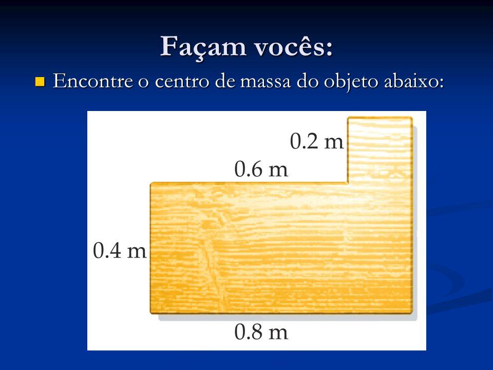 Façam vocês: Encontre o centro de massa do objeto abaixo: Encontre o centro de massa do objeto abaixo: