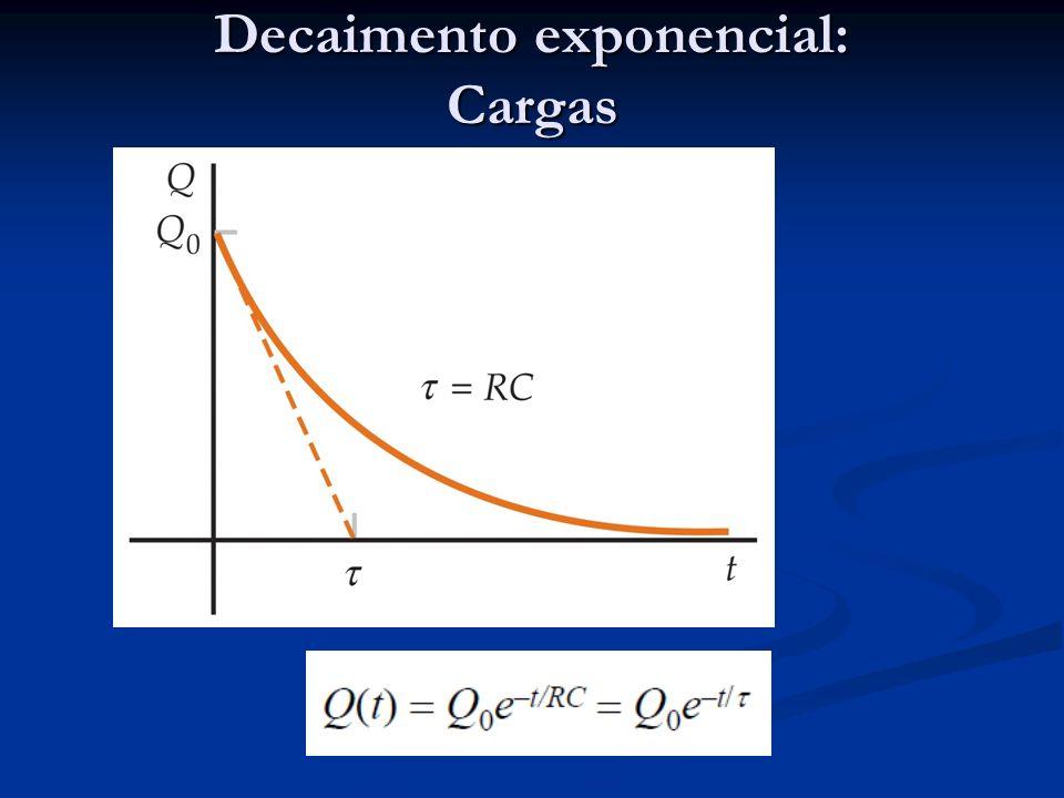 Decaimento exponencial: Cargas