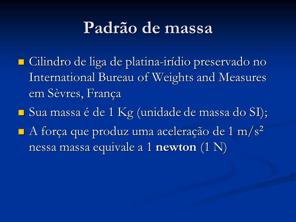 Exemplo Uma força produz uma aceleração de 5 m/s 2 num objeto de massa m 1.