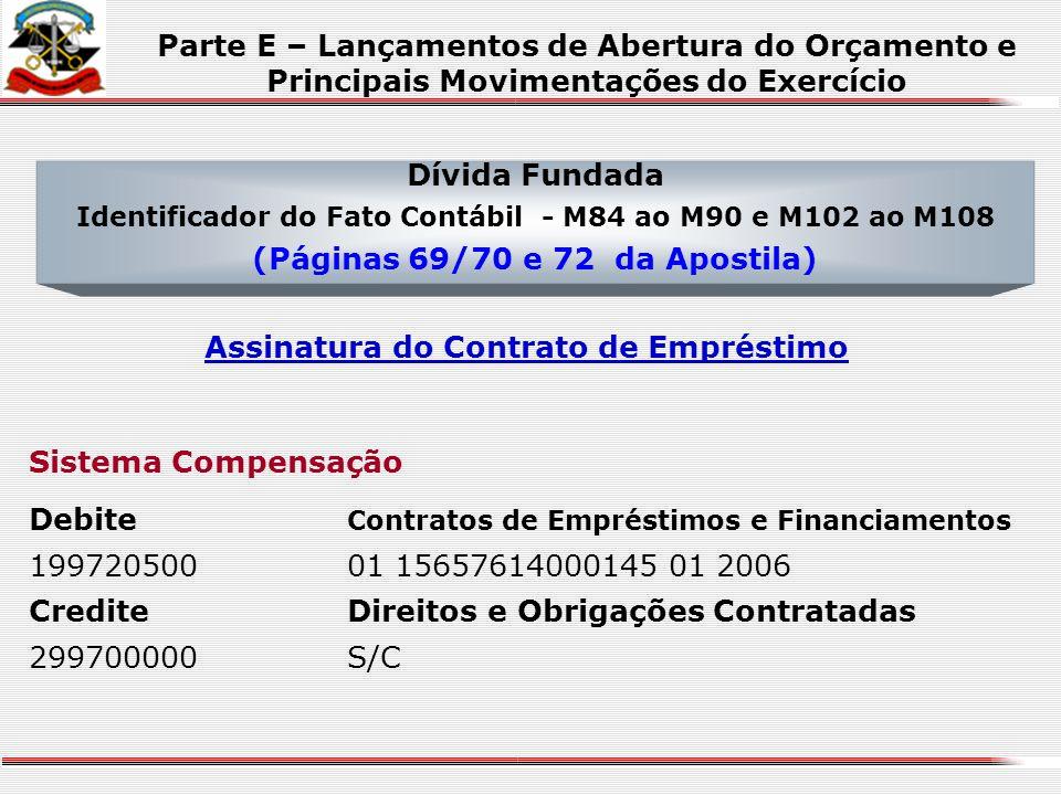 Dívida Ativa Identificador do Fato Contábil - M80 ao M83 (Página 69 da Apostila) Baixa de Dívida Ativa por Cancelamento Sistema Patrimonial DebiteDívi