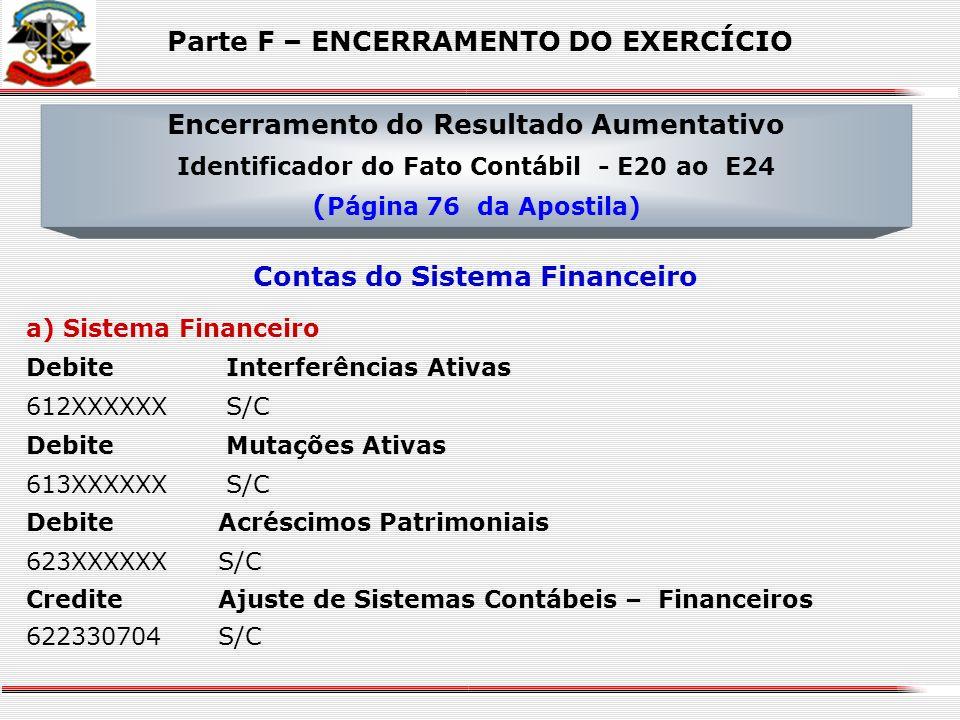 Sistema Patrimonial Debite Receita Orçamentária 611XX0000 S/C Debite Mutações Ativas 613XXXXXX S/C Debite Acréscimos Patrimoniais 623XXXXXX S/C Credit