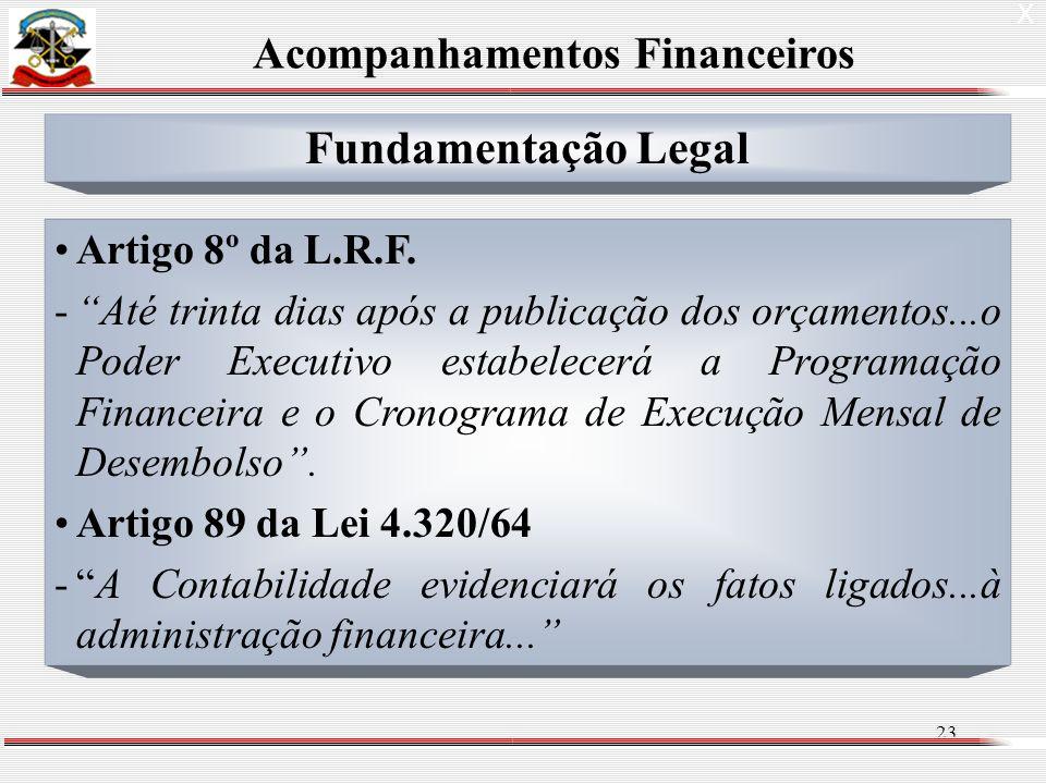 23 X Fundamentação Legal Artigo 8º da L.R.F.