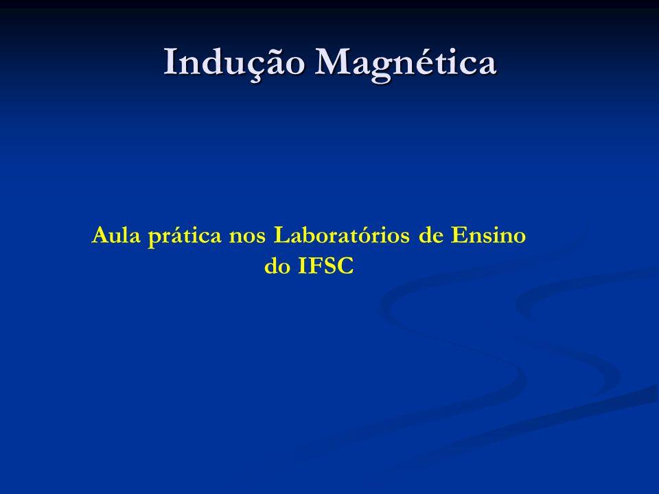 Indução Magnética Aula prática nos Laboratórios de Ensino do IFSC