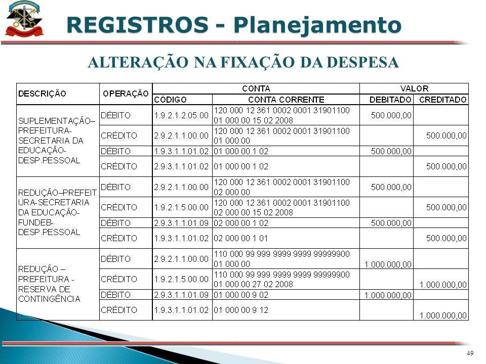 48 X REGISTROS - Planejamento
