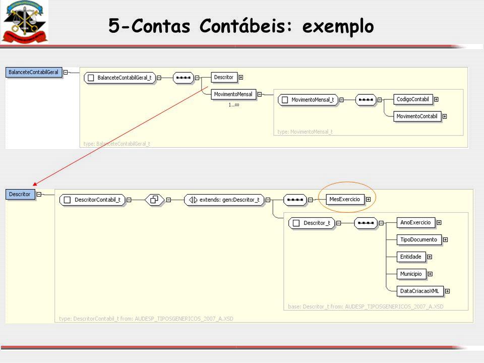 5-Contas Contábeis: exemplo