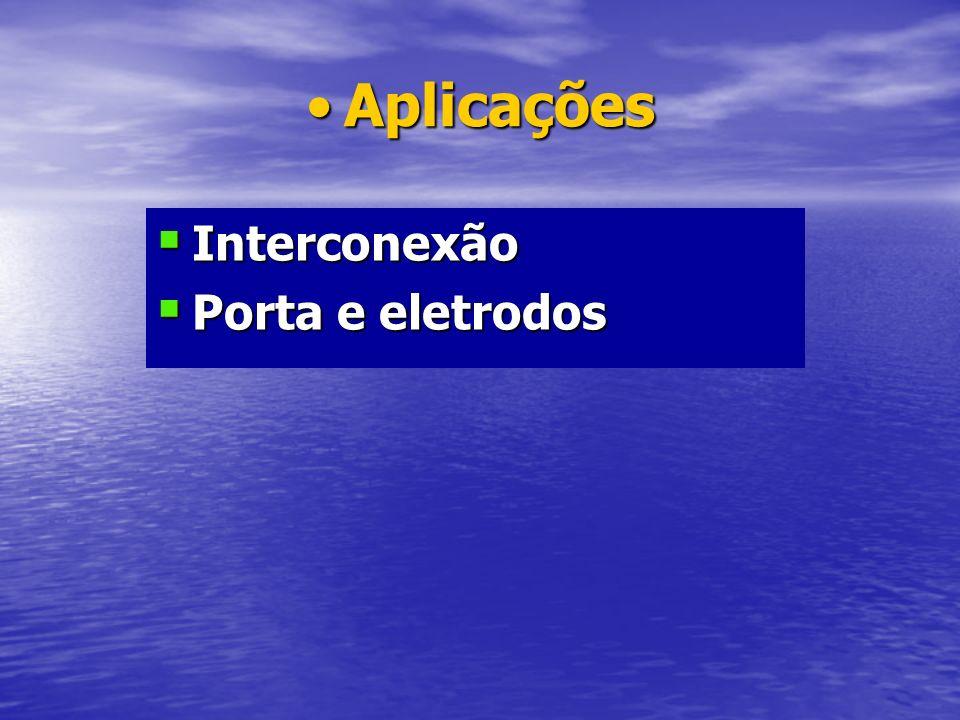 AplicaçõesAplicações Interconexão Interconexão Porta e eletrodos Porta e eletrodos