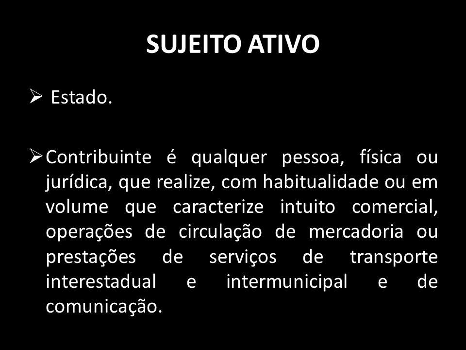 SUJEITO ATIVO Estado.