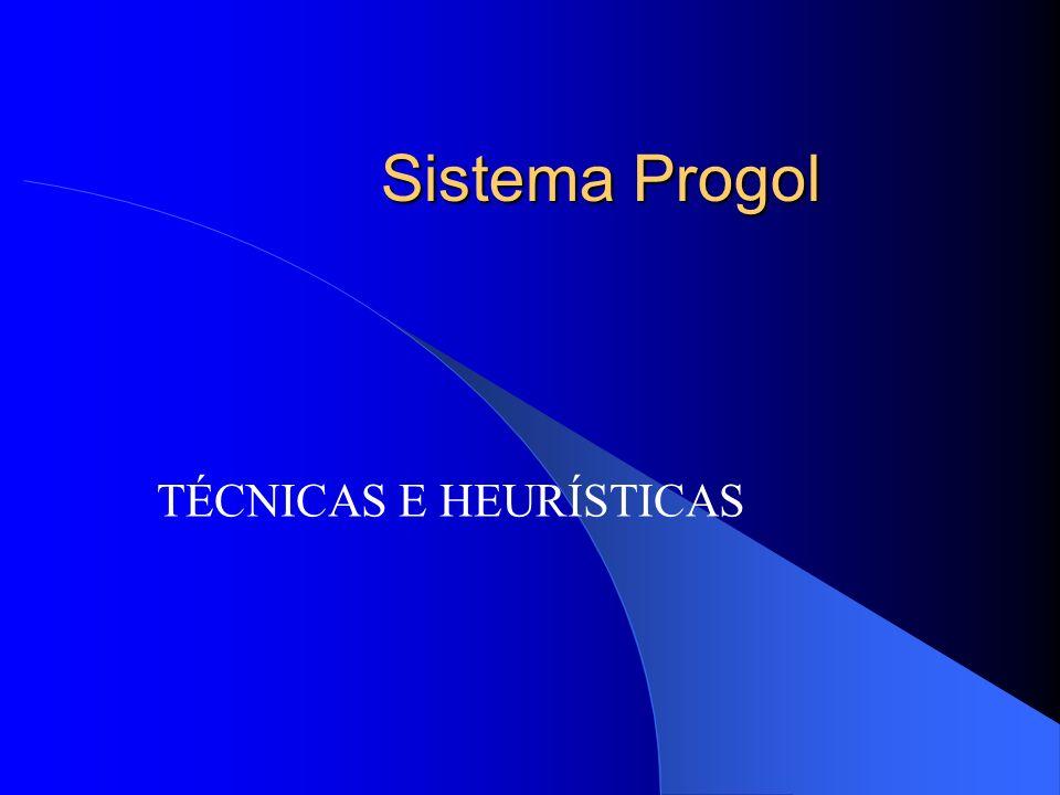 Sistema Progol TÉCNICAS E HEURÍSTICAS