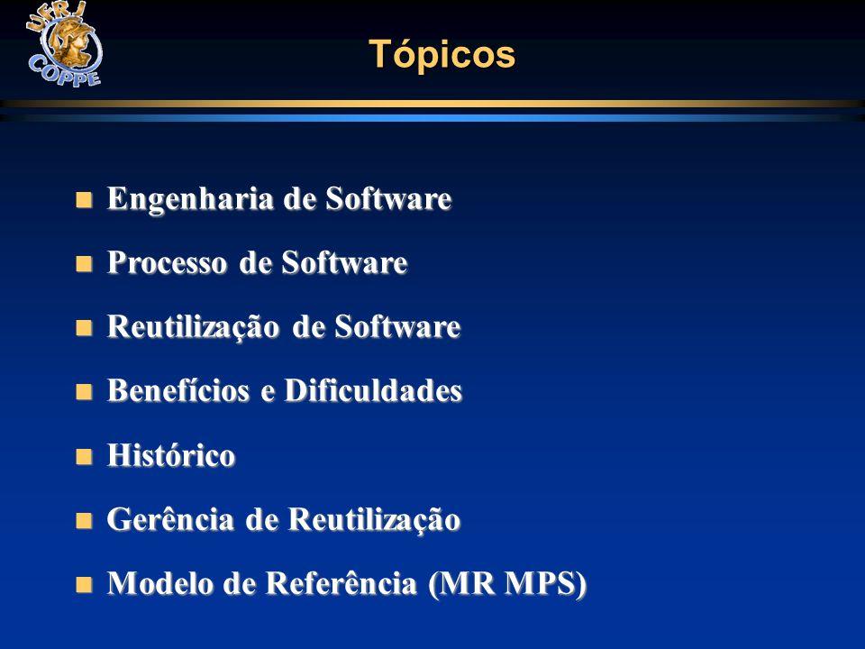 Medição / Gerência de Configuração Aquisição / Garantia da Qualidade Desenvolvimento de Requisitos / Projeto e Construção do Produto / Integração do Produto/ Verificação / Validação Análise de Decisão e Resolução Gerência de Riscos G F E D C Gerência de Requisitos Gerência de Projetos Gerência de Projetos (evolução) Análise de Causas de Problemas e Resolução A B Níveis de Maturidade MPS Definição do Processo Org.