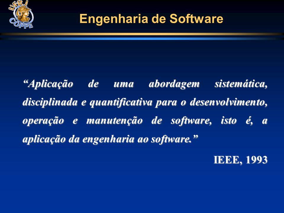 Engenharia de Software Aplicação de uma abordagem sistemática, disciplinada e quantificativa para o desenvolvimento, operação e manutenção de software