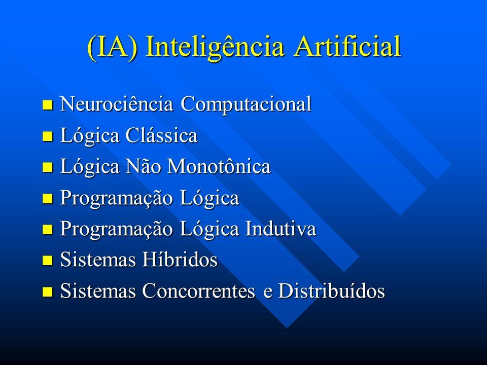(IA) Inteligência Artificial Neurociência Computacional Neurociência Computacional Lógica Clássica Lógica Clássica Lógica Não Monotônica Lógica Não Mo