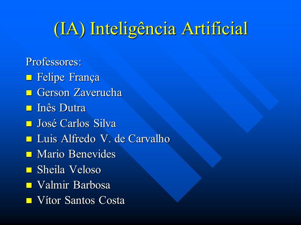 (IA) Inteligência Artificial Professores: Felipe França Felipe França Gerson Zaverucha Gerson Zaverucha Inês Dutra Inês Dutra José Carlos Silva José C