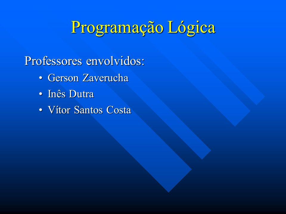Programação Lógica Professores envolvidos: Gerson ZaveruchaGerson Zaverucha Inês DutraInês Dutra Vítor Santos CostaVítor Santos Costa