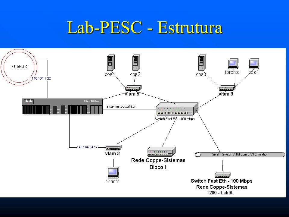 Lab-PESC - Estrutura