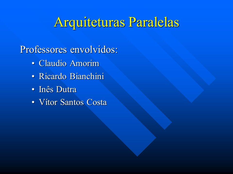 Arquiteturas Paralelas Professores envolvidos: Claudio AmorimClaudio Amorim Ricardo BianchiniRicardo Bianchini Inês DutraInês Dutra Vítor Santos Costa
