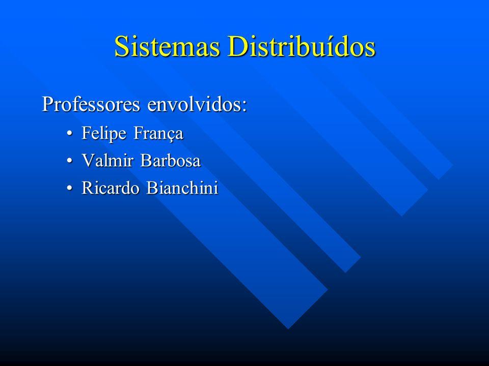 Sistemas Concorrentes e Distribuídos Professores envolvidos: Felipe FrançaFelipe França Mario BenevidesMario Benevides Valmir BarbosaValmir Barbosa