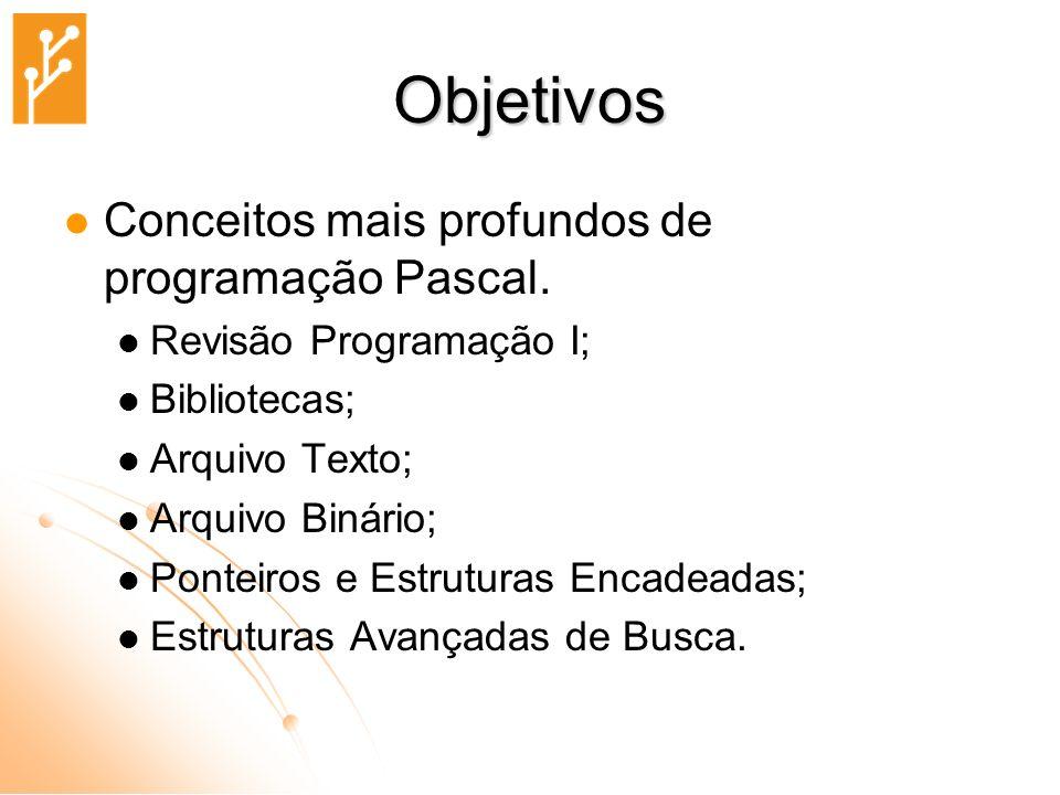 Estrutura Básica de um Programa em Pascal program identificador ; parte_das_declarações begin parte_dos_comandos end.