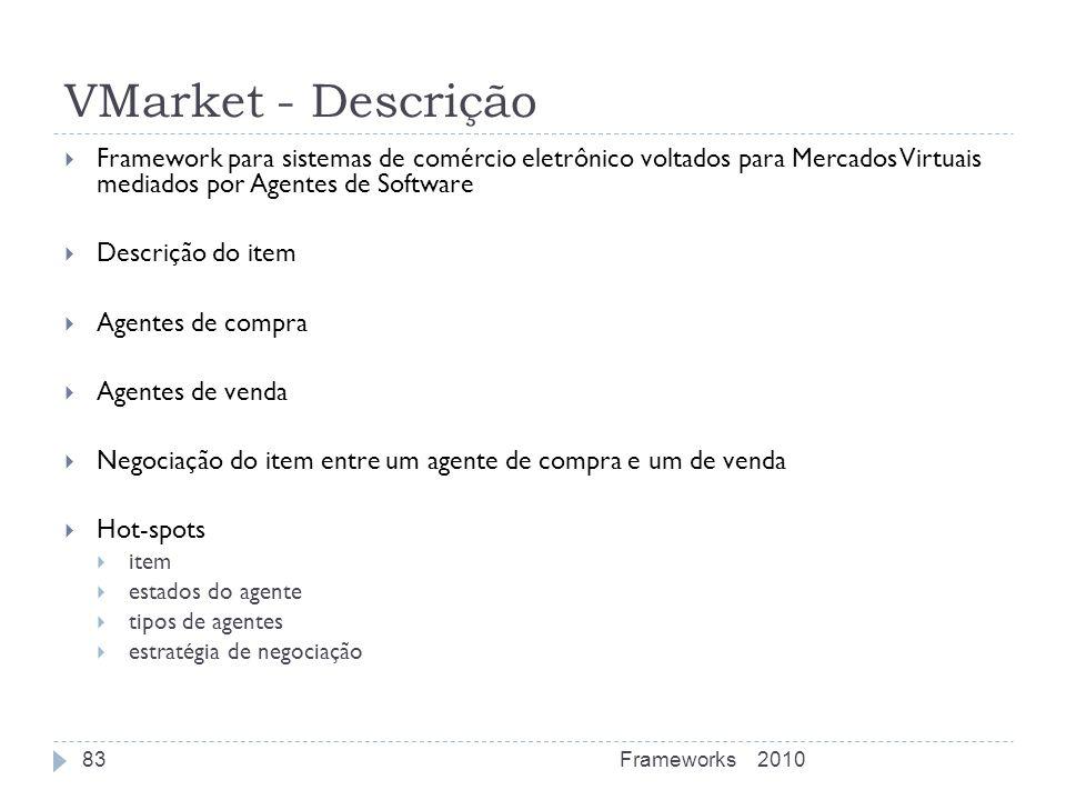 VMarket - Descrição Framework para sistemas de comércio eletrônico voltados para Mercados Virtuais mediados por Agentes de Software Descrição do item