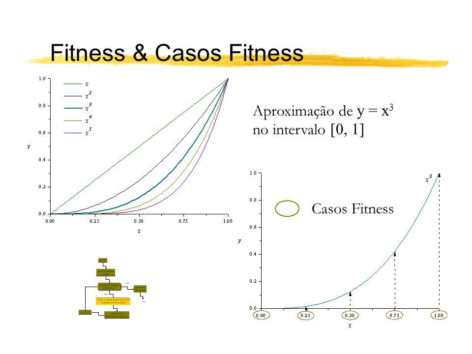 Fitness & Casos Fitness Aproximação de y = x 3 no intervalo [0, 1] Casos Fitness