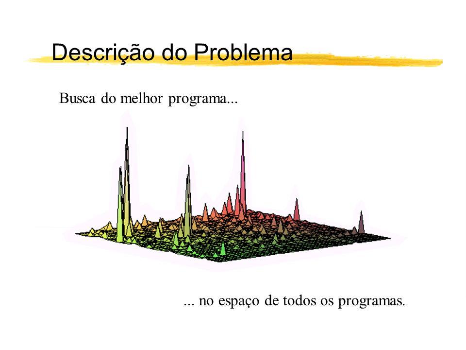 Descrição do Problema Busca do melhor programa...... no espaço de todos os programas.