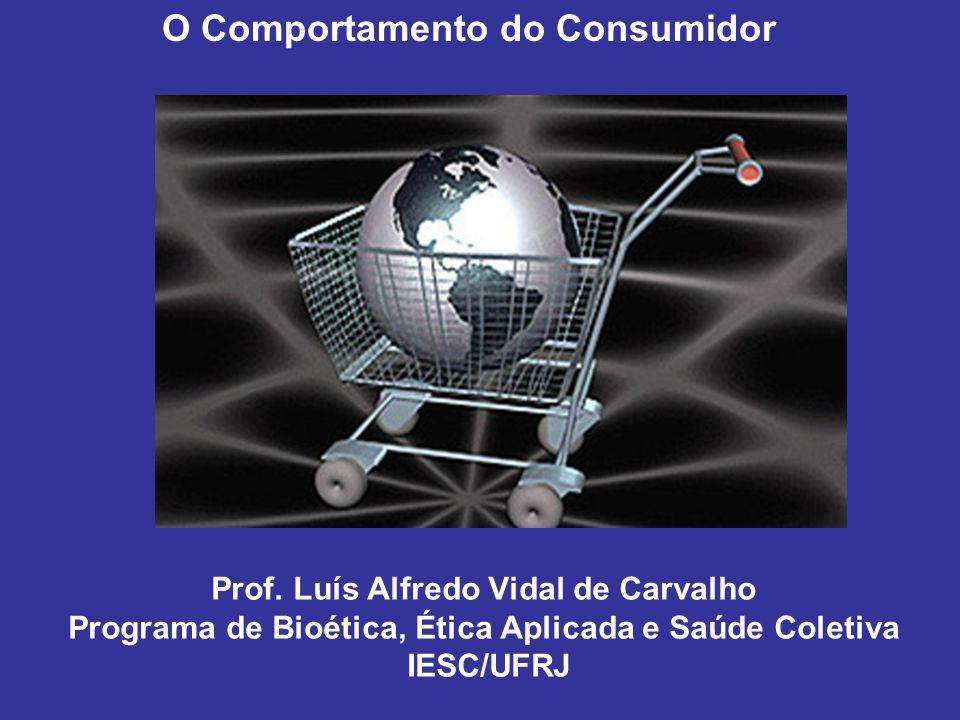 Prof. Luís Alfredo Vidal de Carvalho Programa de Bioética, Ética Aplicada e Saúde Coletiva IESC/UFRJ O Comportamento do Consumidor