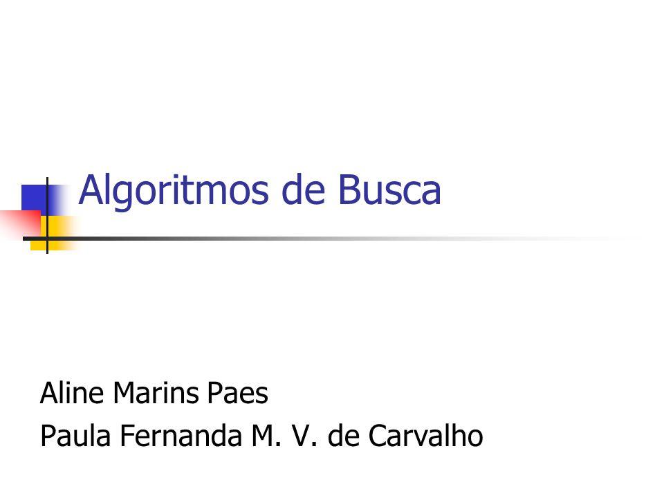 Algoritmos de Busca Aline Marins Paes Paula Fernanda M. V. de Carvalho