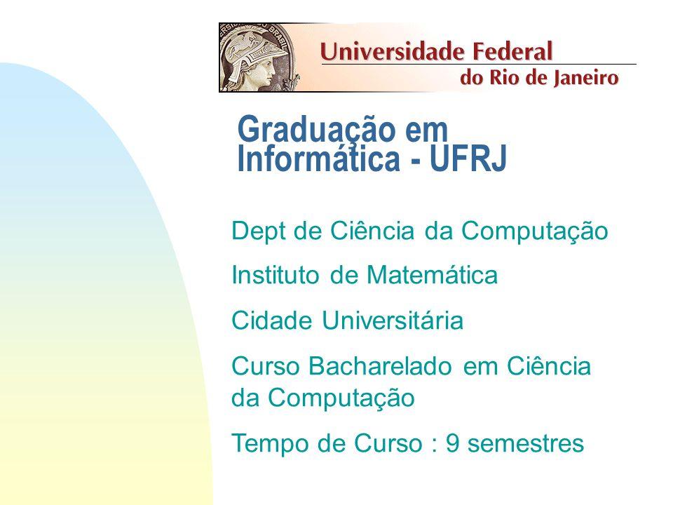 Estrutura da UFRJ Reitoria Centro de Ciências Matemáticas e da Natureza Instituto de Matemática Departamento de Ciências da Computação CT CLA CCS CFCH