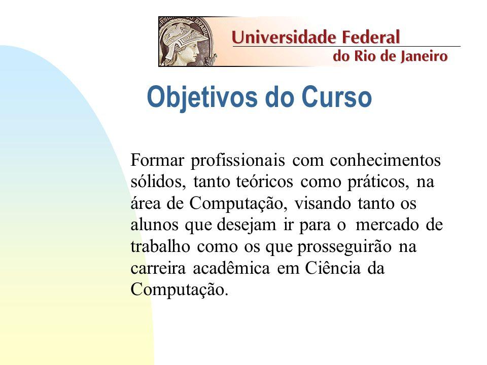 Informática - UFRJ História Fundado em 1974 - opção Matemática 1982 vestibular separado 60 vagas ano 1983 reconhecimento MEC 1988 mudança de currículo