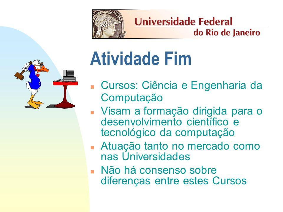 Categorias de Cursos Computação como atividade fim Computação como atividade meio Licenciatura em Computação Cursos de Tecnologia Se acha a Educação c