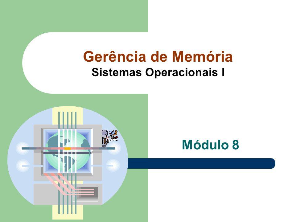 Gerência de Memória Sistemas Operacionais I Módulo 8