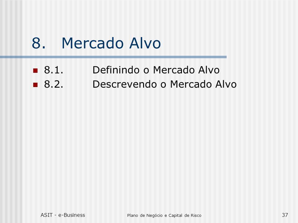 ASIT - e-Business Plano de Negócio e Capital de Risco 37 8.Mercado Alvo 8.1.Definindo o Mercado Alvo 8.2.Descrevendo o Mercado Alvo