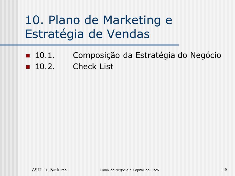 ASIT - e-Business Plano de Negócio e Capital de Risco 46 10.Plano de Marketing e Estratégia de Vendas 10.1.Composição da Estratégia do Negócio 10.2.Ch