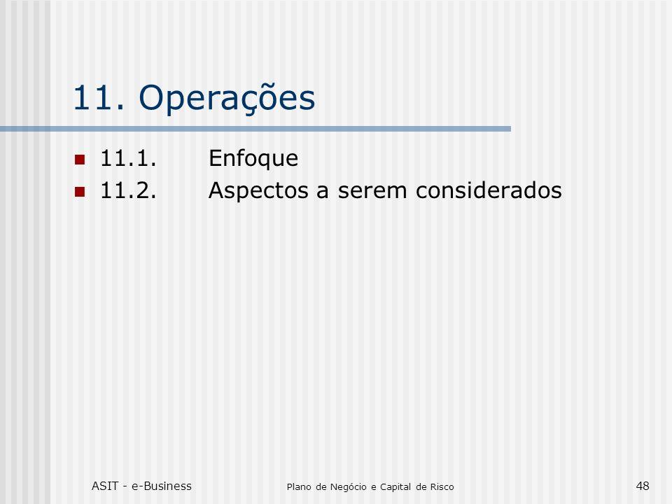 ASIT - e-Business Plano de Negócio e Capital de Risco 48 11.Operações 11.1.Enfoque 11.2.Aspectos a serem considerados
