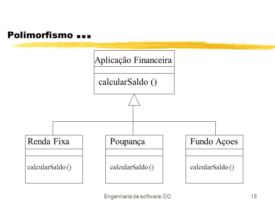 Engenharia de software OO15 Polimorfismo...