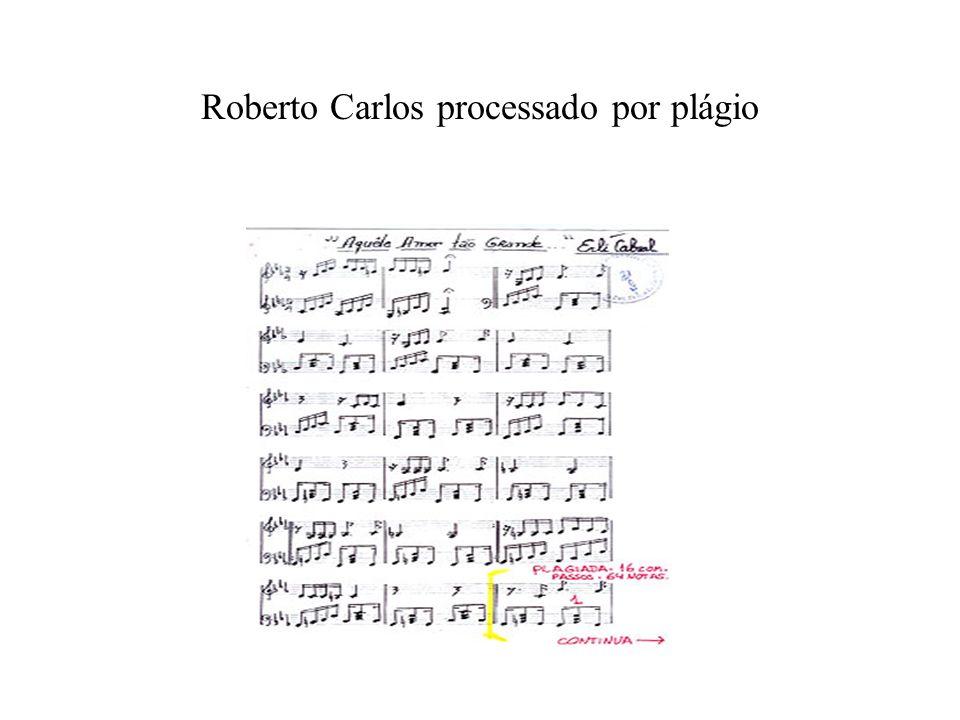 Roberto Carlos processado por plágio