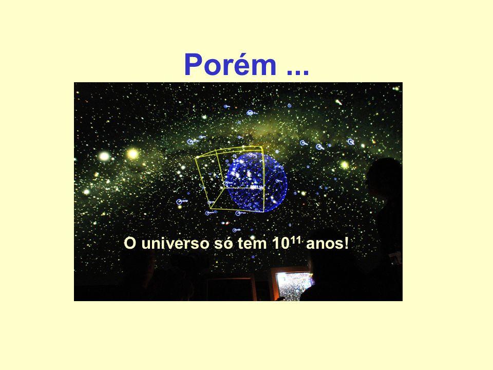 Porém... O universo só tem 10 11 anos!