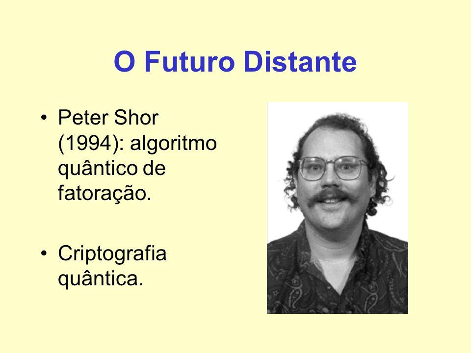 O Futuro Distante Peter Shor (1994): algoritmo quântico de fatoração. Criptografia quântica.