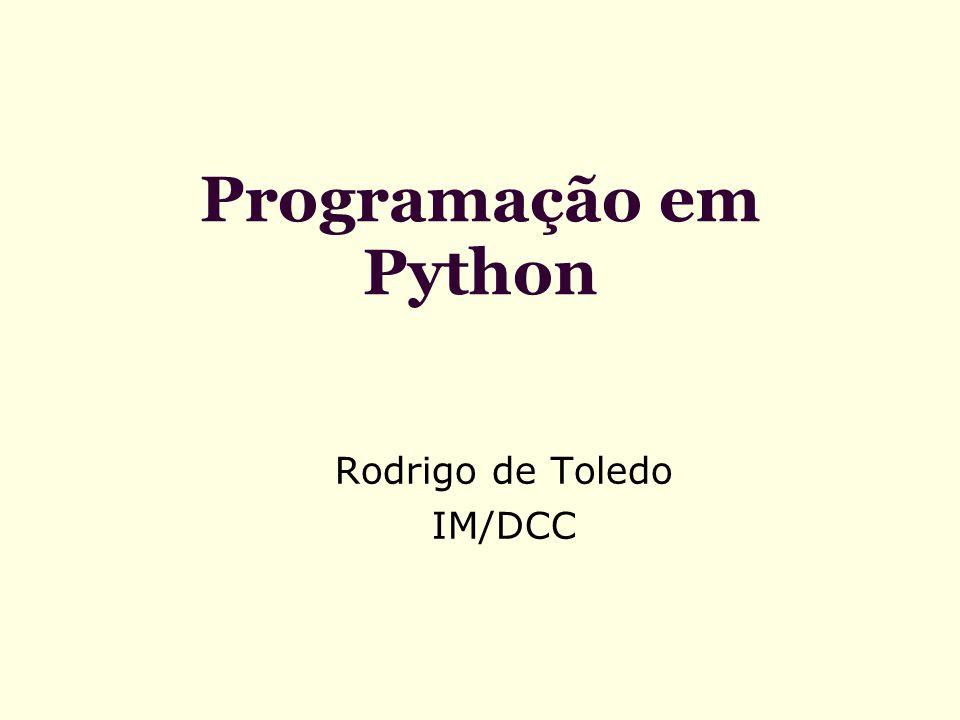 Executando um programa Python Interfaces gráficas normalmente já associam os sufixos.py e.pyc com o interpretador