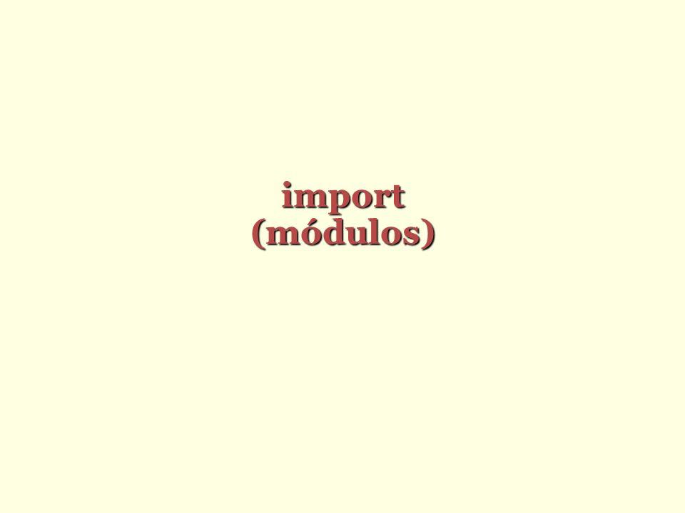 import(módulos)