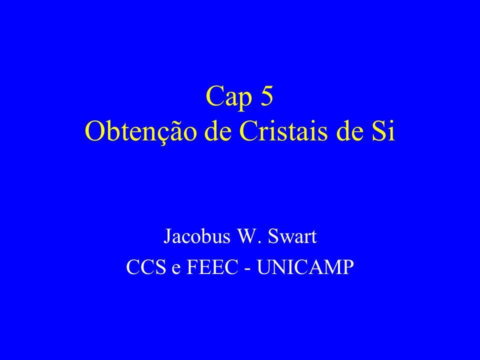 Cap 5 Obtenção de Cristais de Si Jacobus W. Swart CCS e FEEC - UNICAMP