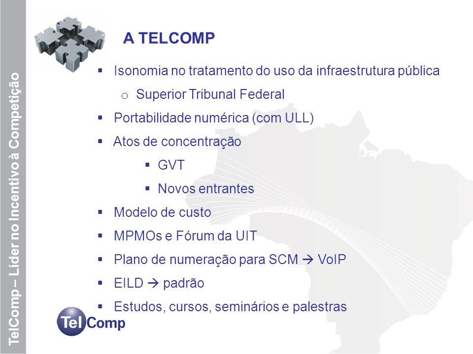 7 TelComp – Líder no Incentivo à Competição VOIP e Internet Importância das operadoras de VOIP e Provedores de acesso a Internet na Economia Treinamento e capacitação dos usuários de micro e pequenas empresas e nas áreas rurais Em geral, pouco marketing sobre as contribuições das ISP e VoIP Importância da união de forças