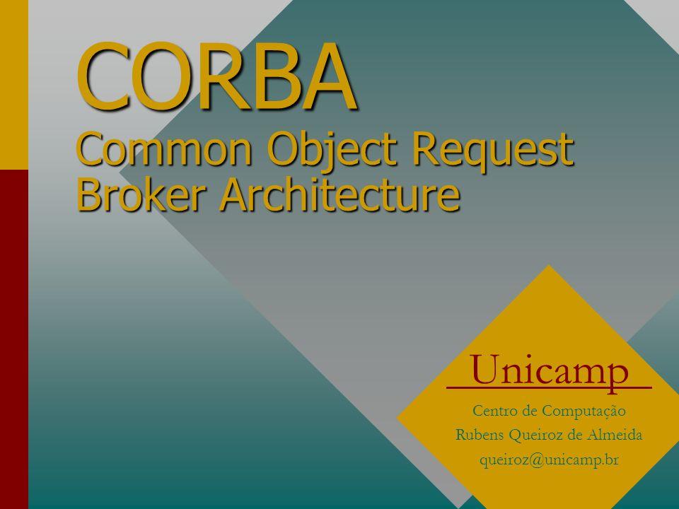 CORBA Common Object Request Broker Architecture Unicamp Centro de Computação Rubens Queiroz de Almeida queiroz@unicamp.br