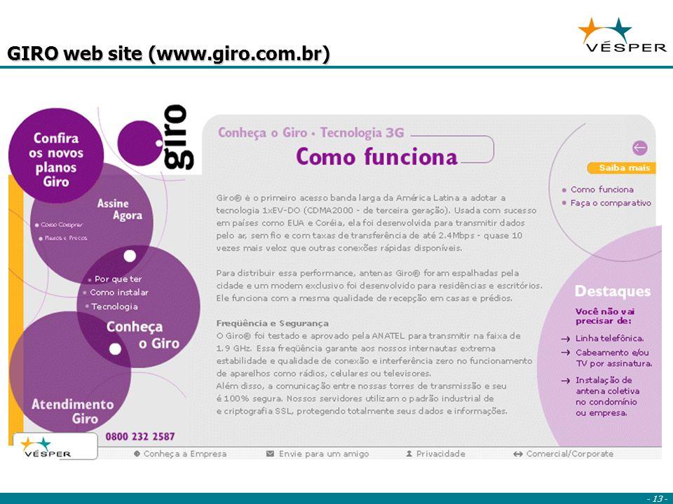 - 13 - GIRO web site (www.giro.com.br)