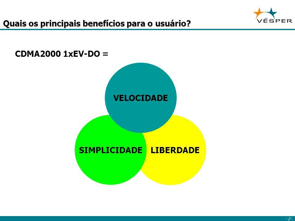 - 2 - LIBERDADE Quais os principais benefícios para o usuário.