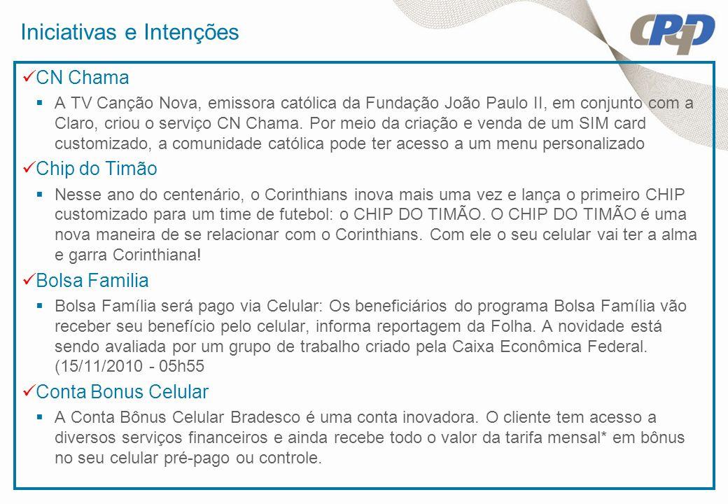 Iniciativas e Intenções CN Chama A TV Canção Nova, emissora católica da Fundação João Paulo II, em conjunto com a Claro, criou o serviço CN Chama. Por